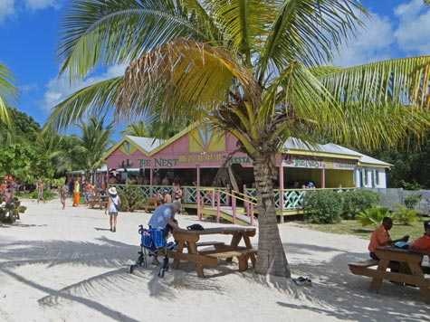 Restaurant on Antigua Beach